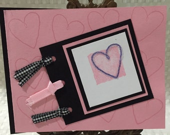 Stampin Up Valentine Heart Card