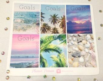 Planner Stickers - Summer Checklist Collection