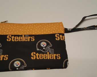 NFL Pittsburgh Steelers Wristlet Sports Football Embroidered Monogrammed