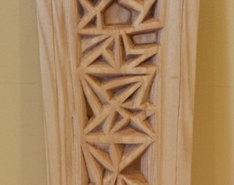 Wooden Hand CarvedTriangles in Harmony. SA-003