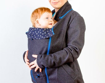 MarkoMiles 100% Wool Babywearing Coat