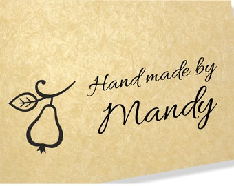 Personalised Clear Stamp - Hand Made By Stamps - Pear Stamp