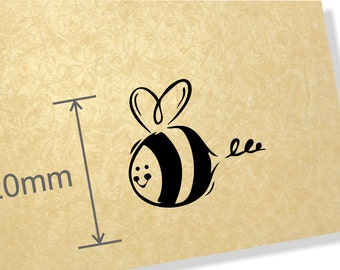 Clear Acrylic Stamp. Bumblebee stamp