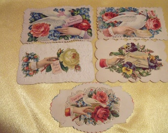 Antique Calling Cards, Victorian calling Cards, Collectable Calling Cards, Victorian Art Cards, Message cards,  Vintage Calling Cards