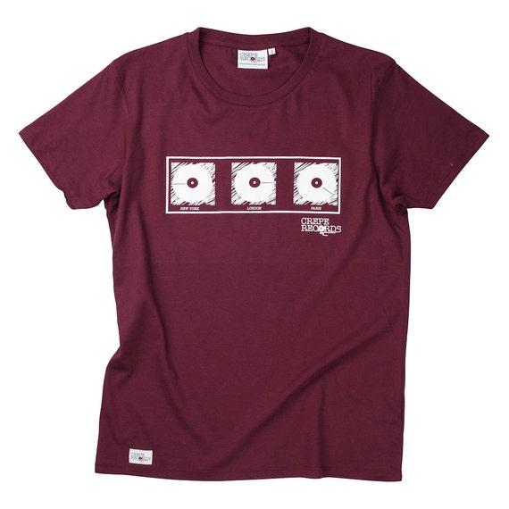 Screen Print Mens Red T Shirt Tshirt Tee Lpny London Paris