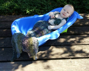 Baby Mermaid Outfit Crochet Pattern, Little Mermaid Crochet Pattern, Mermaid Tail Crochet Pattern, Mermaid Halloween Costume Crochet Pattern