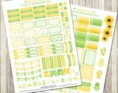 August monthly stickers kit printable PDF for Erin Condren Lifeplanner, Filofax, Plum Paper Planner, scrapbooking / INSTANT DOWNLOAD