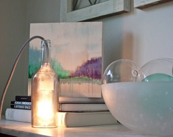 Upcycled Glass Bottle Light Fixture