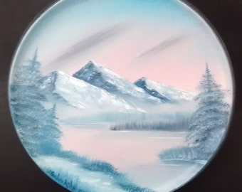 Pink Mountain Sunset