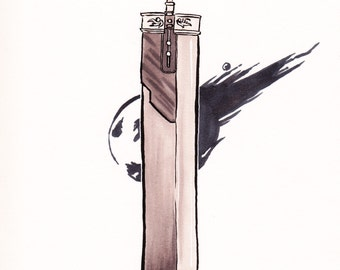 Buster Sword (FFVII) Drawing