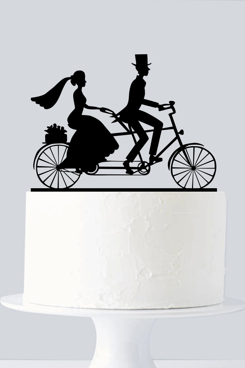 bicycle wedding cake topper uk bicycle cake topper cycle cake topper a955 11736