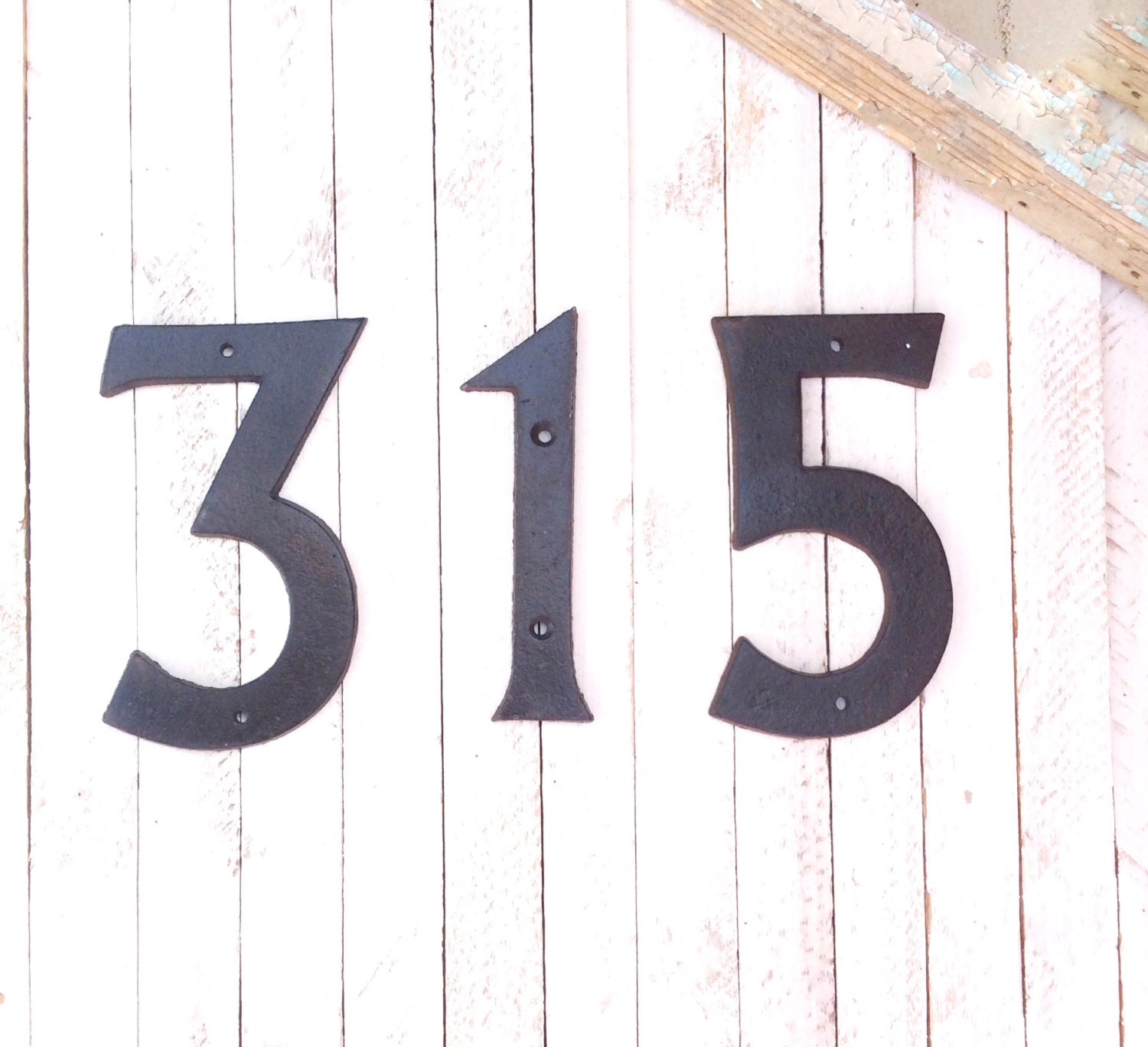 Large iron house numbers modern style home decor for the for Big modern house numbers
