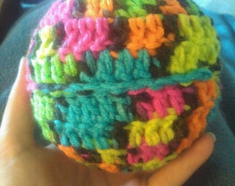 Hot Colors Variegated Crochet Baby Ball