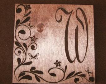 Custom made oak coasters