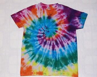 Tie Dye t shirt Spiral 100% cotton t-shirt.
