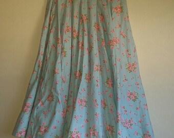 Vintage floral Circle Skirt