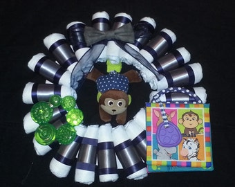Diaper Wreath for someone expecting a Boy