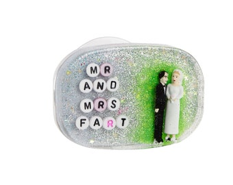Wedding Gag Gift, MADE TO ORDER Mr. & Mrs. Fart: The Perfect Wedding Gift for Your Farty Friends, Farting, Flatulence, Fart Jokes