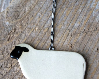 Sheep Ornament - Handmade Pottery - 2-3 weeks for delivery