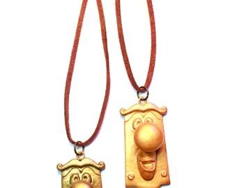 Alice in wonderland doorknob inspired necklace by Giuliart
