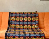Reserved for K only Custom Wool Blanket in Multicolor & Black Native American Design