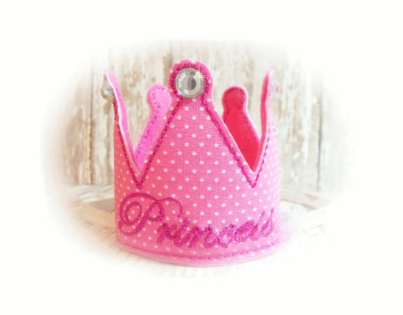Dog Crown, Pink Princess Crown, Dog Birthday Party, Pet Costume, Photo Prop