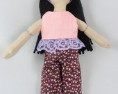 Toy Doll - Dress Up Doll with Black Hair