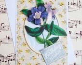 Birthday Card, Handmade Birthday Card, 3D Birthday Card, Blank Card, Floral Card, Purple Flower, Morning Glory Card, Birthday Greeting Card