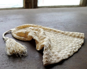 Edwardian Silk Baby Stocking Night Cap
