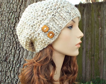 Wheat Womens Hat - Seed Beret Hat Wheat Knit Hat - Wheat Hat Wheat Beret Wheat Beanie Womens Accessories Winter Hat - READY TO SHIP