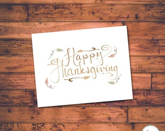Happy Thanksgiving, Card, Printable, Thanksgiving Cards, Harvest, Greetings, Thanksgiving, Fall, Autumn, Greeting Cards, Instant Download