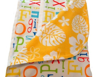Newborn Gift Set - ABC Safari Receiving Blanket/Burp Cloths