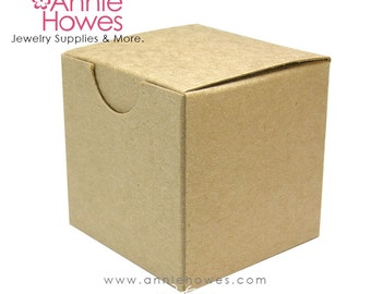 5 Small Cardboard Favor Boxes. Kraft Boxes. 2 x 2 x 2 inches. Annie Howes. 5 pack.