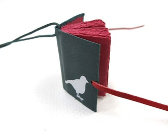 Leather Book Necklace / Diary / Notebook / Journal / hand made / blank mini book