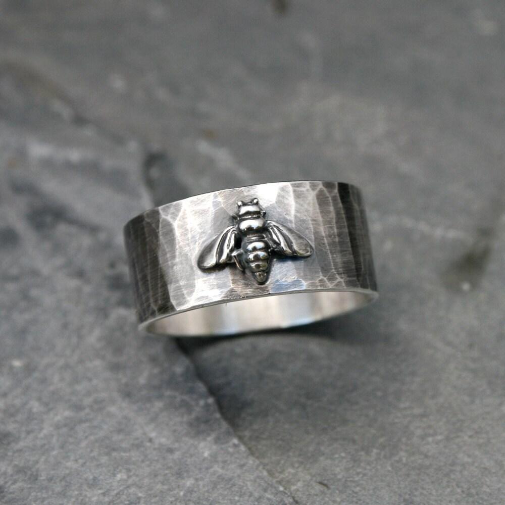 Honey Bee Ring Band Solid Sterling Silver Oxidized Rustic. Platinum Bracelet. Men Ring Bands. Tri Color Gold Bracelet. Floral Bracelet. Moon Necklace. Polished Nickel Pendant. Matrix Rings. Walmart Rings