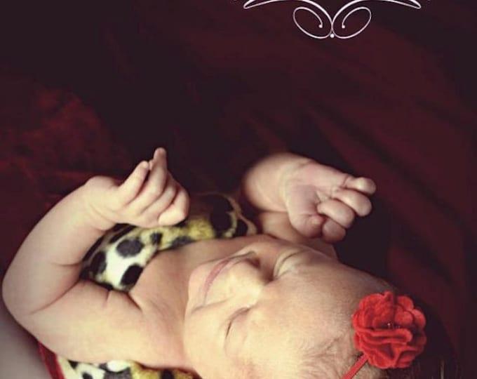Red Felt Flower Headband ~ Infant Headband - Newborn Headband - Toddler Headband ~ Baby Girl Headband