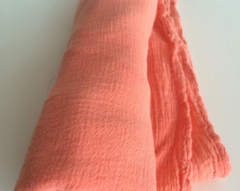 Tangerine Hand Dyed Cotton Gauze Swaddle Blanket
