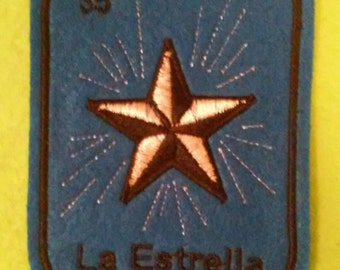 La Estrella  Loteria Patch  Iron On star