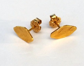 Gold Leaf Earrings, Gold Leaves Earrings, Minimalist Earrings, Gold Leaf Earrings, Leaf Stud Earrings, Gold Studs, Gold Plated Earrings