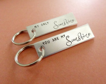 You are my Sunshine Keychain - My Only Sunshine Keychain - Keychain Set