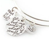 But What If You Fly? - Adjustable Bangle Bracelet - Inspirational Jewelry