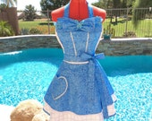 Cinderella Inspired Sassy Apron, Dress Up, Cosplay,  Womens Aprons, Plus Sizes, Cinderella Costume Apron, Butterflies
