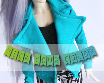 Minifee MSD BJD clothes Knit sweatshirt Moto Jacket Pick your color MonstroDesigns