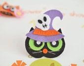 New! Set of 6pcs handmade Halloween Cat--black (FT1051)