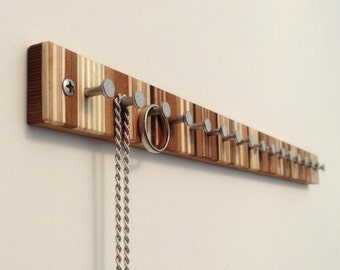 Jewelry Rack, Modern Wood Jewelry Rack, for Rings and Necklaces