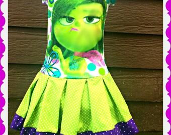 girls Inside Out dress disgust dress girls disgust dress 3 left size 4