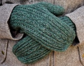 Cabled Mitten Knitting Pattern - Worsted Weight Wool - Ramble On