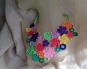 Free form crochet necklace Garden party III. Pay it forward
