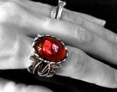 Gothic Ring // Ruby Ring // Victorian Ring // Red Stone // Red Ring // Vampire // Halloween Jewelry