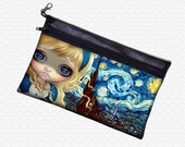 Alice in Starry Night Wonderland bag Zippered Pouch Jasmine Becket-Griffith Pencil Case Art Supply / Jewelry Pouch School Bag